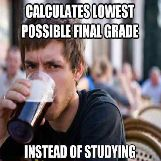 Calculates Lowest Possible Final Grade..
