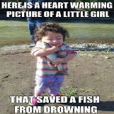 Little Girl Saved Fish From Drowning