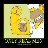 Only Real Men Are 100% Beer