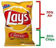 Bag of Chips are 70% Air and 30% Chips