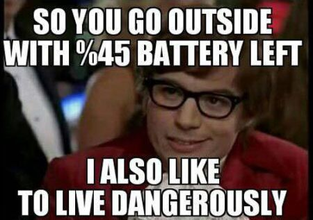 Going out with 45% is living dangerously