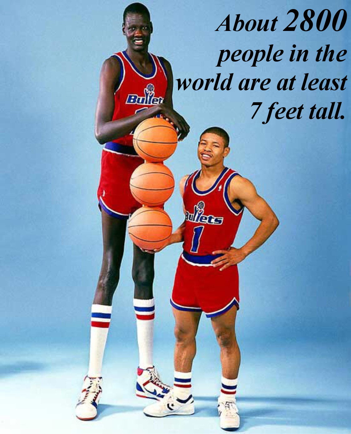 How Many 7 Footers Are in the World?