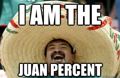 I Am the Juan Percent