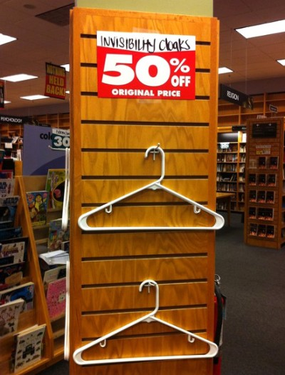 Invisibility Cloaks, 50% Off