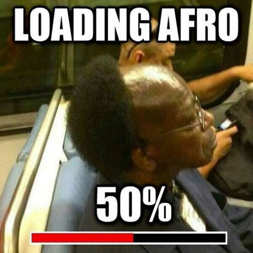 Loading Afro, 50% Complete