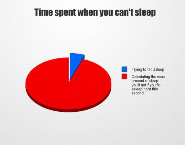 Pie Chart of me when I can't sleep