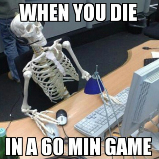 When You Die in a 60 Minute Game