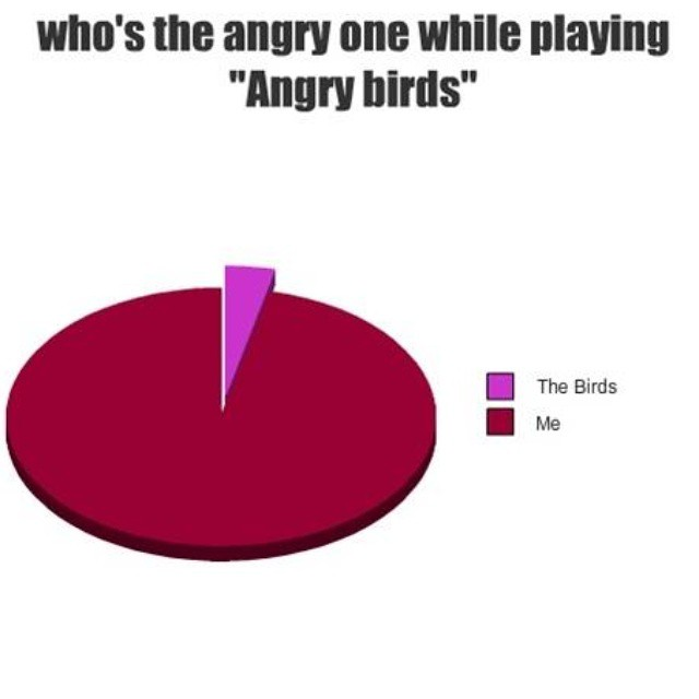 Who Is Angry Playing Angry Birds Pie Chart